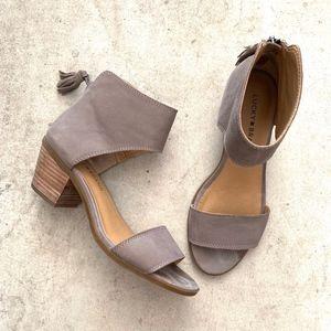 Lucky Brand LK-Barbina Ankle Strap Heeled Sandals